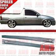 Par Spoiler Lateral Corsa Pick-up com Tela Tuning