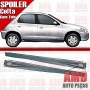 Par Spoiler Lateral Celta Prisma 01 a 14 4 Portas com Tela