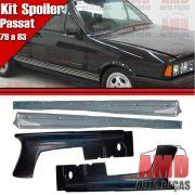 Kit Spoiler Dianteiro Passat 79 a 85 + Spoiler Lateral Com Tela