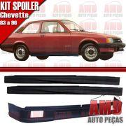 Kit Spoiler Chevette 83 á 96 Dianteiro Com Furo + Lateral Sem Tela