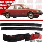 Kit Spoiler Chevette 83 á 96 Dianteiro Sem Furo + Lateral Sem Tela