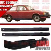 Kit Spoiler Chevette 83 á 96 Dianteiro Sem Furo + Lateral Com Tela