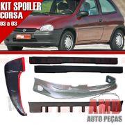 Kit Spoiler Corsa 93 á 03 2 Portas Dianteiro + Traseiro + Lateral Sem Tela + Aerofolio