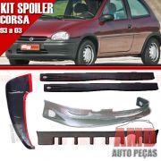 Kit Spoiler Corsa 93 � 03 2 Portas Dianteiro + Traseiro + Lateral Com Tela + Aerofolio