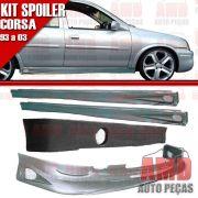 Kit Spoiler Corsa 93 � 03 4 Portas Dianteiro + Traseiro + Lateral Com Tela