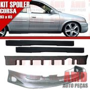 Kit Spoiler Corsa 93 á 03 4 Portas Dianteiro + Traseiro + Lateral Sem Tela