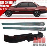 Kit Spoiler Monza 82 á 90 2 Portas Dianteiro Sem Furo + Lateral Com Tela