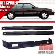 Kit Spoiler Monza 83 á 96 4 Portas Dianteiro Com Furo + Lateral Com Tela