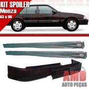 Kit Spoiler Monza 83 á 96 4 Portas Dianteiro Sem Furo + Lateral Com Tela