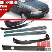 Kit Spoiler Palio 96 á 99 2 Portas Dianteiro + Lateral Com Tela + Traseiro + Aerofolio