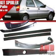 Kit Spoiler Palio 96 á 99 4 Portas Dianteiro + Lateral Sem Tela + Traseiro + Aerofolio