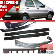 Kit Spoiler Palio 96 á 99 4 Portas Dianteiro + Lateral Com Tela + Traseiro + Aerofolio