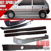 Kit Spoiler Uno 84 á 04 2 Portas Dianteiro + Lateral Com Tela + Traseiro + Aerofolio