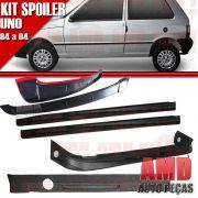 Kit Spoiler Uno 84 � 04 2 Portas Dianteiro + Lateral Sem Tela + Traseiro + Aerofolio