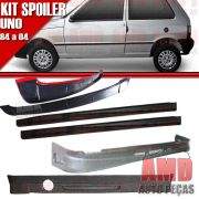 Kit Spoiler Uno 84 á 04 2 Portas Dianteiro + Lateral Sem Tela + Traseiro + Aerofolio