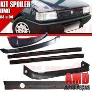 Kit Spoiler Uno 84 á 04 4 Portas Dianteiro + Lateral Sem Tela + Traseiro + Aerofolio