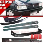 Kit Spoiler Uno 84 � 04 4 Portas Dianteiro + Lateral Com Tela + Traseiro + Aerofolio