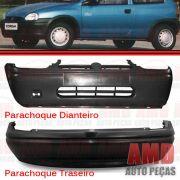 Kit Parachoque Dianteiro e Traseiro Corsa sedan 94 a 99 Preto Liso