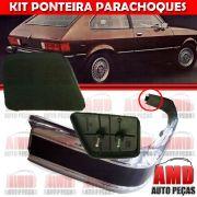 Kit Ponteira Parachoque Traseira Chevette Marajó 80 a 82 (2 Unidades)
