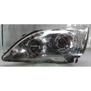 Farol Honda Crv 07 a 09 Mascara Cromada Lado Esquerdo