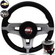 Volante Jetta Alemao Europeu Rallye Fiat Europa Spazio + Cubo