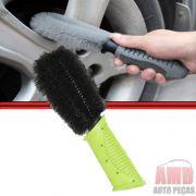 Escova Lava Limpa Roda Pneus Carros Motos e Outros Remove Sujeira