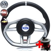 Volante Golf GTI Fiesta Ka Focus Ecosport Grafite + Cubo