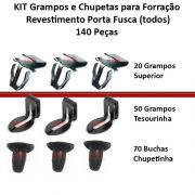 Kit Grampo + Bucha + Tesourinha Forro Porta Fusca 140 Pecas