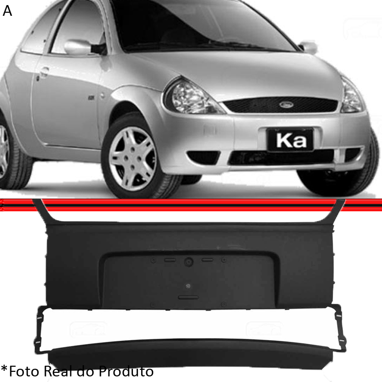Kit Parachoque Dianteiro Ford Ka 02 � 07 Preto  - Amd Auto Pe�as