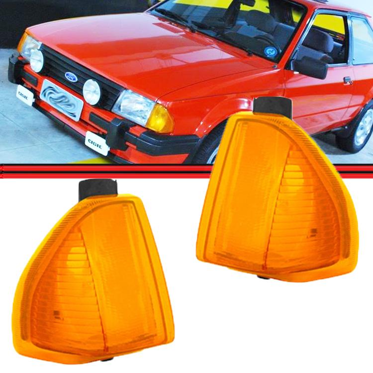 Lanterna Dianteita Pisca Escort 82 A 86 Amarelo  - Amd Auto Peças