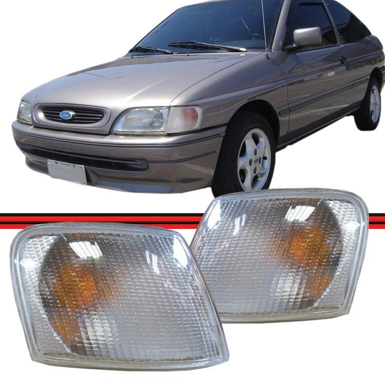 Lanterna Dianteira Pisca Escort Sapão 93 94 95 96 Cristal  - Amd Auto Peças