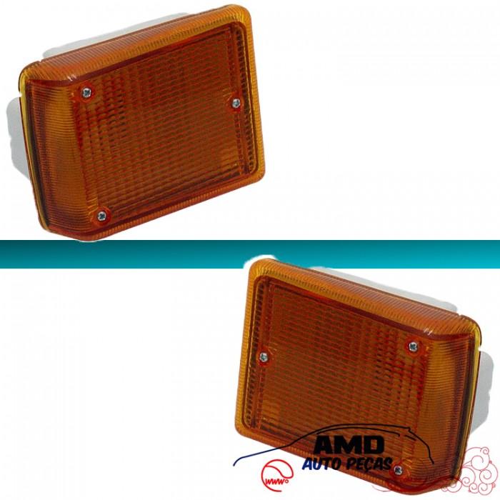 Lanterna Dianteira Kombi Clipper Karat 76 á 14 Amarelo  - Amd Auto Peças