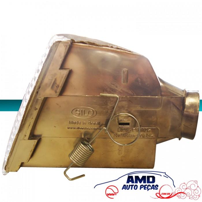 Lanterna Dianteira Santana 1991 á 1997 Amarelo Encaixe Arteb  - Amd Auto Peças