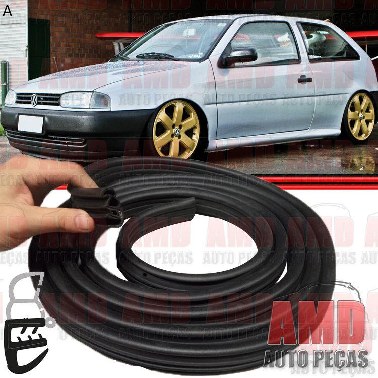 Borracha Porta Para Linha Volkswagen Chevrolet Fiat Ford Universal 4,0 Metros 95 a 08  - Amd Auto Peças
