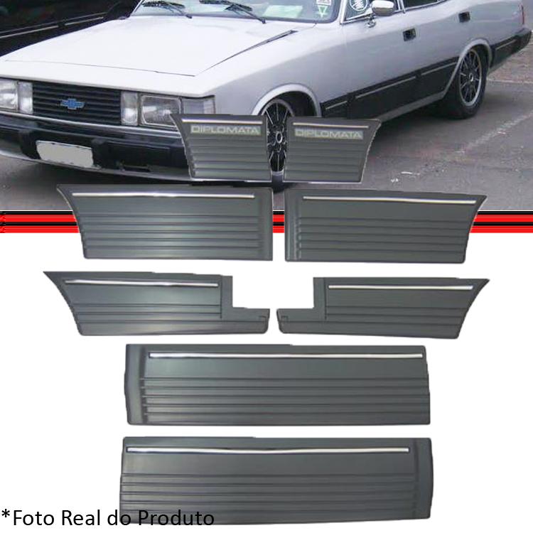 Kit Jogo Friso Opala Diplomata 87 a 90 4 Portas Cinza  - Amd Auto Peças