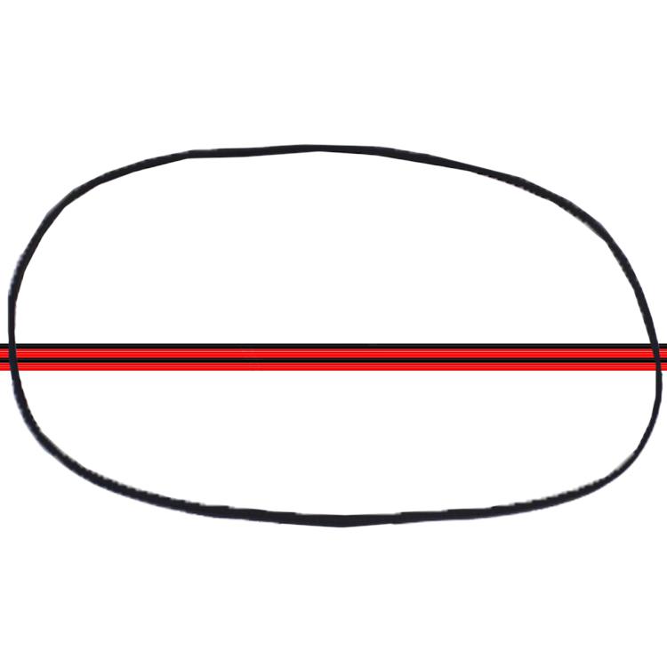 Borracha Janela Lateral Traseira Fusca Fixa 71 á 96 Com Friso  - Amd Auto Peças