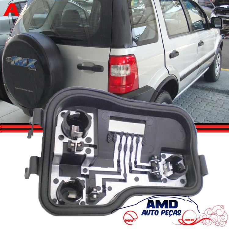 Soquete Circuito Lanterna Traseira Ecosport 03 a 08  - Amd Auto Peças