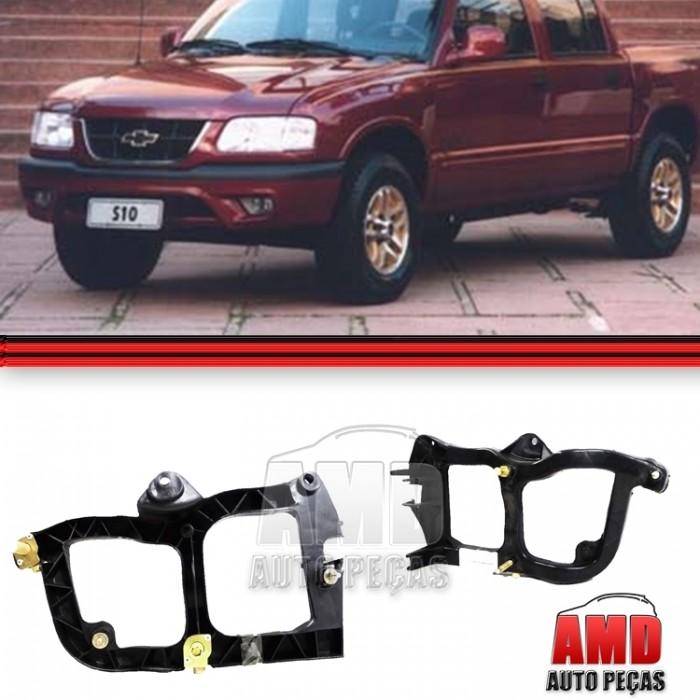 Suporte Farol S10 Preto 96 a 00  - Amd Auto Pe�as