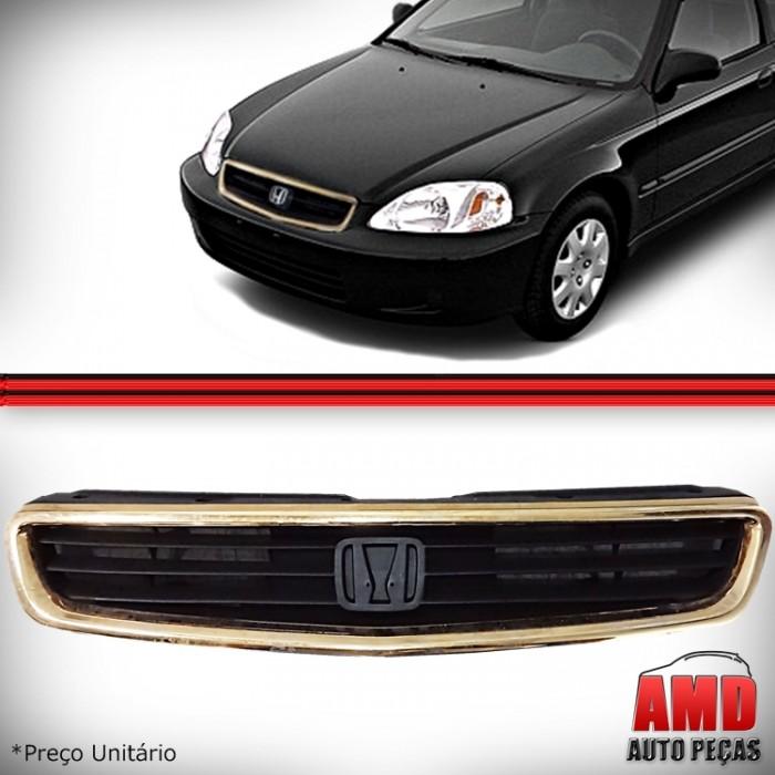 Grade Dianteira Parachoque Honda Civic 1999 2000  - Amd Auto Peças