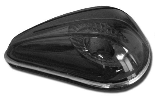 Pisca Lanterna Dianteira Fusca Tuning Cristal Fume Ambar c/ Soquete  - Amd Auto Peças
