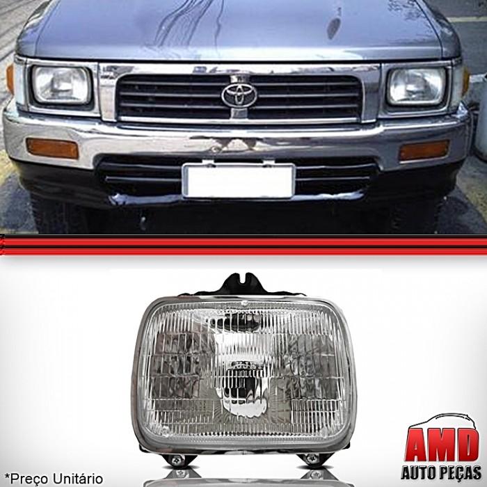 Farol Toyota Hilux SR5 Pick Up l200 l300 Nissa D21 1992 a 2000 Novo  - Amd Auto Peças