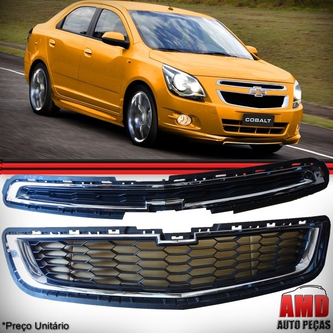 Kit Grades Dianteiras Original Chevrolet Cobalt 2011 a 2014  - Amd Auto Peças
