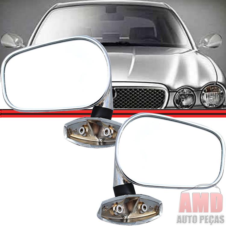 Retrovisor Espelho Universal F�rmula Indy Cromado  - Amd Auto Pe�as