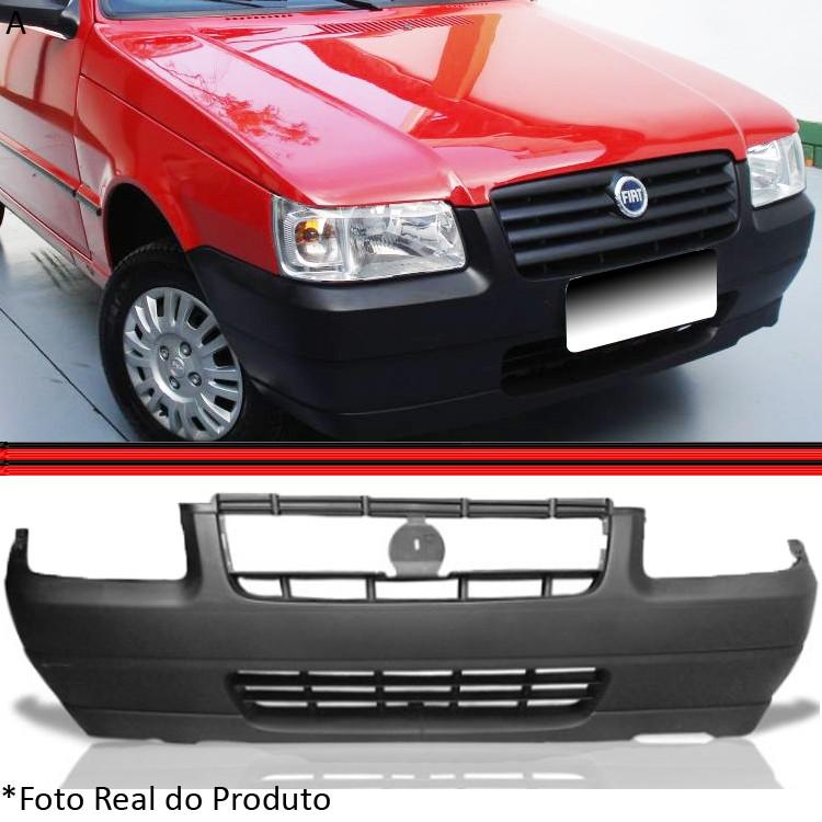Parachoque Dianteiro Uno Fiorino Way Economy Preto Poroso 05 a 12  - Amd Auto Peças