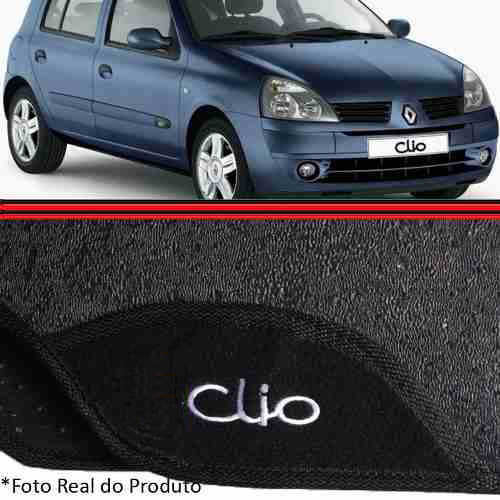 Jogo Tapete Clio 99 a 12 4 Peças Borracha Anti Derrapante  - Amd Auto Peças