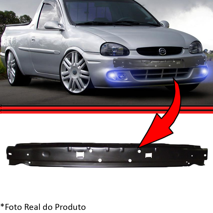 Alma Aço Dianteiro Interna Parachoque Corsa Wind Hatch Sedan Wagon Pick-up Classic 94 a 10  - Amd Auto Peças