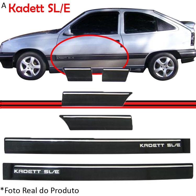 Jogo Friso Lateral Kadett Ipanema 2 Portas SL/E 91 a 96  - Amd Auto Peças