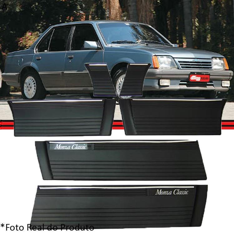 Kit Jogo Friso Monza 87 � 90 Classic Preto 4 Portas  - Amd Auto Pe�as