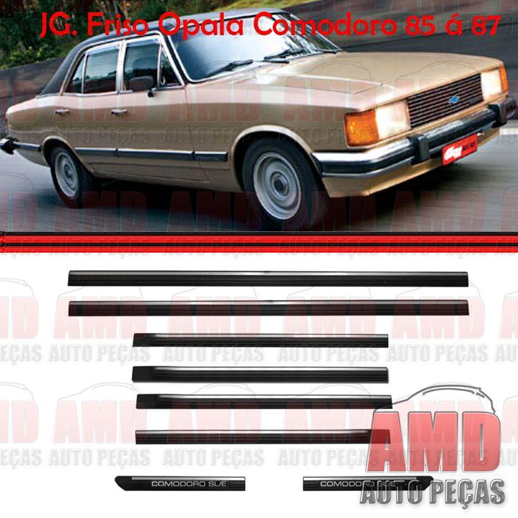 Jogo Friso Lateral Opala Comodoro 85 a 87 4 Portas  - Amd Auto Pe�as