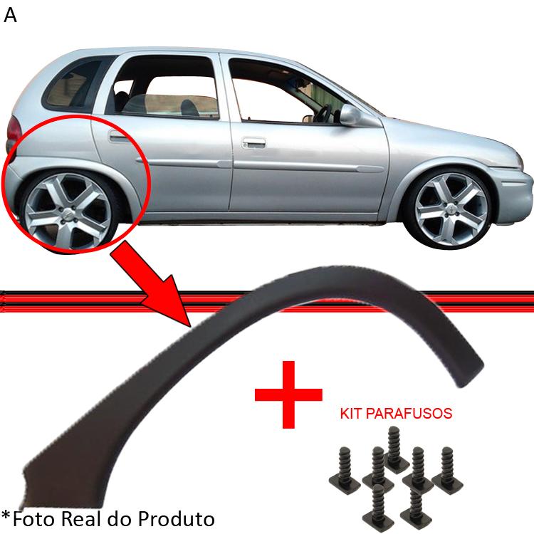 Moldura Paralama Traseiro Corsa Wind Hatch 2/4 Portas Preto Poroso  - Amd Auto Peças